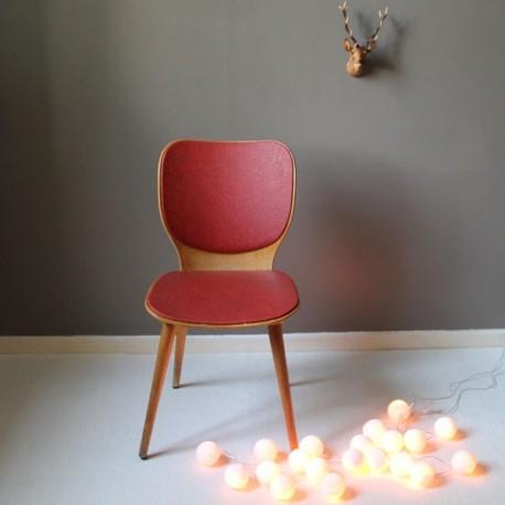 chaise monocoque en bois et ska rouge. Black Bedroom Furniture Sets. Home Design Ideas