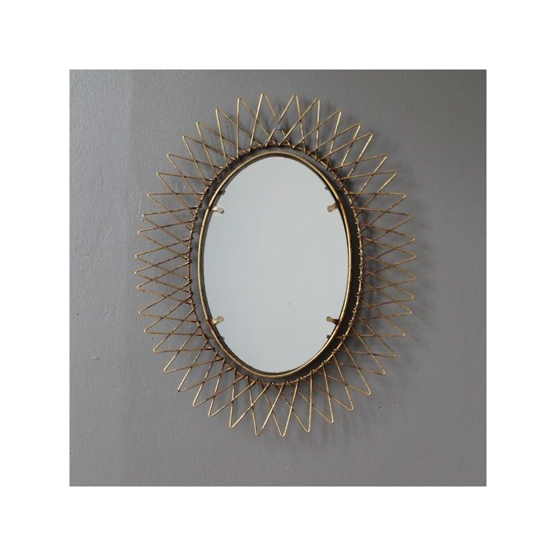 Specchio ottone vintage - Specchio ovale vintage ...