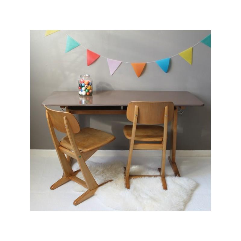 bureau casala vintage 2 places des ann es bauhaus. Black Bedroom Furniture Sets. Home Design Ideas