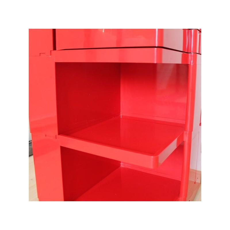 meuble compartiments rouge vintage boby par jo colombo. Black Bedroom Furniture Sets. Home Design Ideas