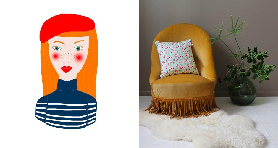 un fauteuil en velours or safrané...what else ?
