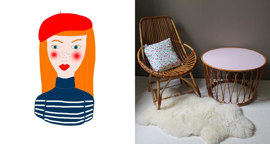fauteuil design ou table basse, le rotin, on aime bien !