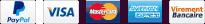 Logo moyens de paiement sécurisés par Paypal